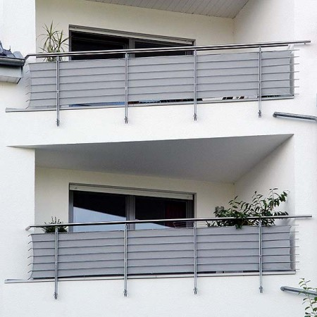 Balkon sichtschutz grau