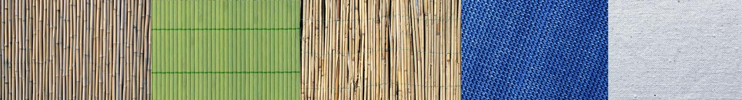 Abbildung einiger Balkon Sichtschutz Materialarten